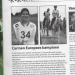 Carmen Römer Europees Kampioen!