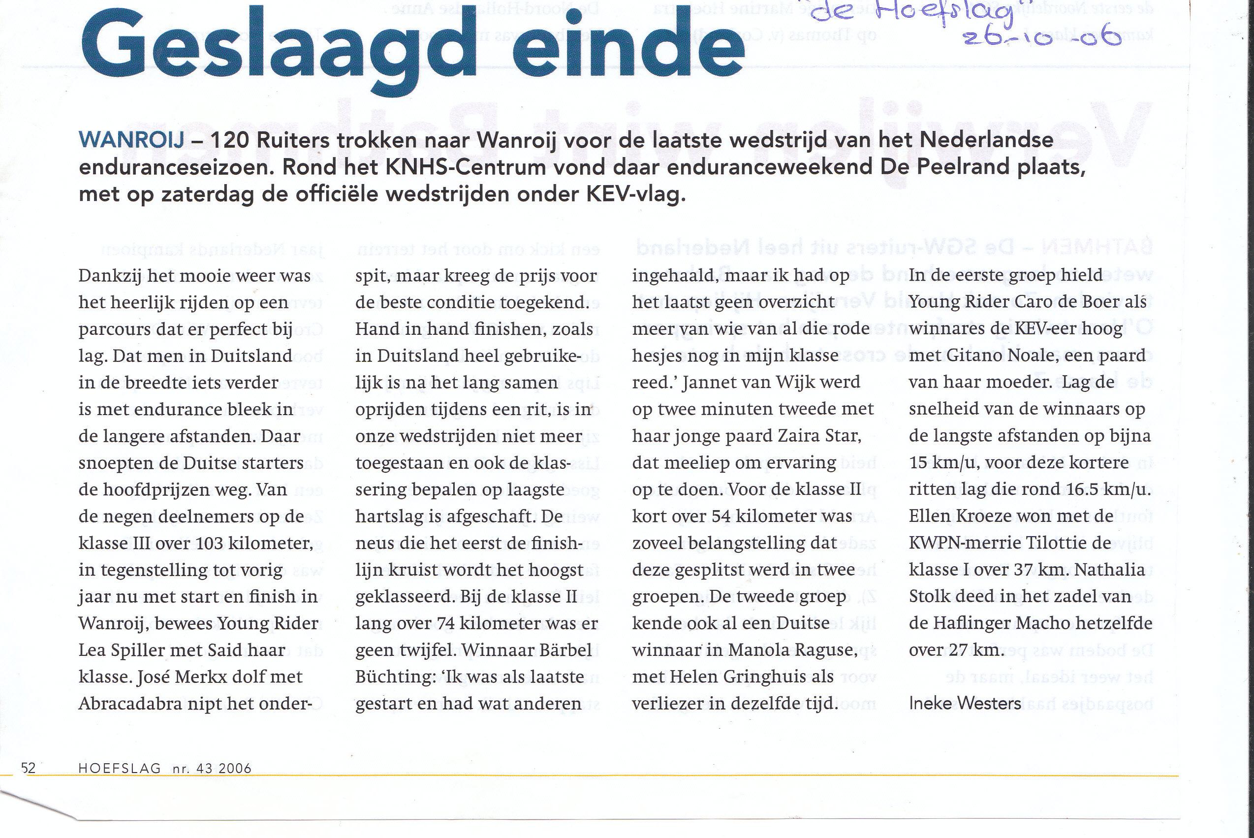 Young Rider Caro de Boer wint Wanroij